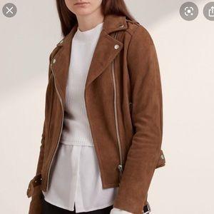Caramel Suede Forever 21 Moto Jacket